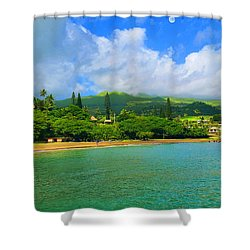 Island Of Maui Shower Curtain by Michael Rucker
