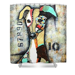 Italian Greyhound Shower Curtain