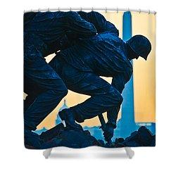 Iwo Jima Memorial At Dusk Shower Curtain