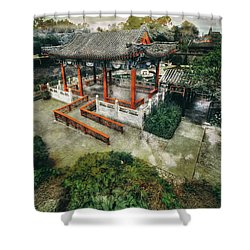 Shower Curtain featuring the photograph Jade Garden by Wayne Sherriff