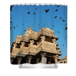 Shower Curtain featuring the photograph Jagdish Temple by Yew Kwang