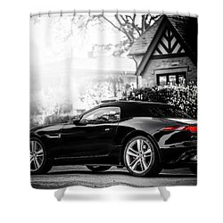 Jaguar F Type S  Shower Curtain by Darek Szupina Photographer