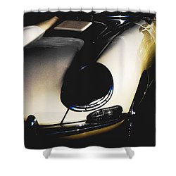 Jaguar In The Night Shower Curtain by Angela Davies