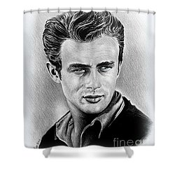 James Dean Shower Curtains Fine Art America