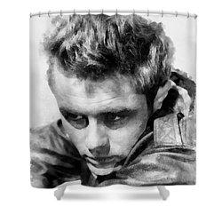 James Dean By John Springfield Shower Curtain