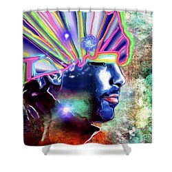 Jamiroquai Shower Curtain by Daniel Janda