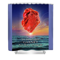 January Birthstone Garnet Shower Curtain