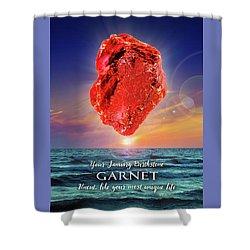 January Birthstone Garnet Shower Curtain