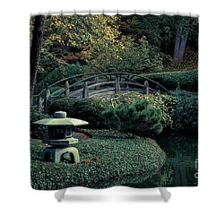Shower Curtain featuring the photograph Japanese Garden In Summer by Iris Greenwell