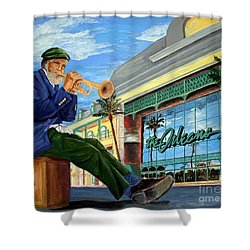 Jazz At The Orleans Shower Curtain