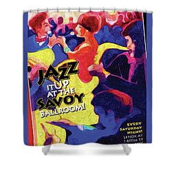 Jazz It Up Shower Curtain by Ted Azriel
