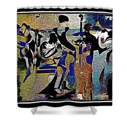 Jazzy Night  Shower Curtain by Lynda Payton