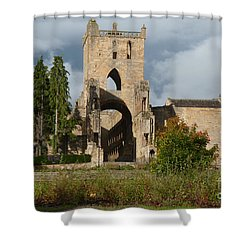 Jedburgh Abbey  Shower Curtain