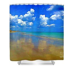 Jensen Beach  Shower Curtain by Patrice Torrillo