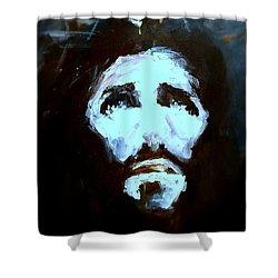 Jesus - 4 Shower Curtain by Jun Jamosmos
