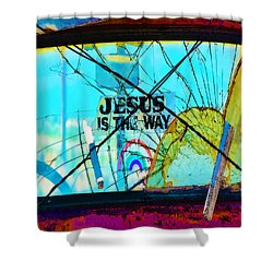 Jesus Is The Way Shower Curtain