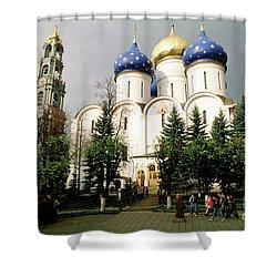 Jesus, Trinity Lavra Of St. Sergius Monastery Sergiev Posad Shower Curtain by Wernher Krutein