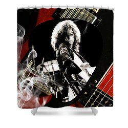 Jimmy Page Art Shower Curtain