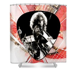 Jimmy Page Led Zeppelin Art Shower Curtain by Marvin Blaine