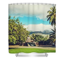 Shower Curtain featuring the photograph Jodo Shu Mission Lahaina Maui Hawaii by Sharon Mau