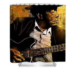 John Lee Hooker Shower Curtain by Paul Sachtleben