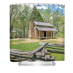 John Oliver Cabin Shower Curtain