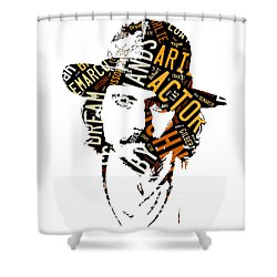 Johnny Depp Movie Titles Shower Curtain by Marvin Blaine