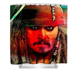 Johnny Depp Painting Shower Curtain