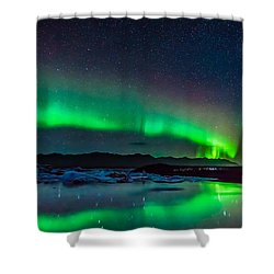 Jokulsarlon Aurora Shower Curtain