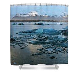 Shower Curtain featuring the photograph Jokulsarlon, The Glacier Lagoon, Iceland 5 by Dubi Roman