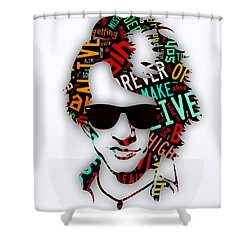 Jon Bon Jovi It's My Life Lyrics Shower Curtain by Marvin Blaine