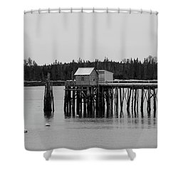 Shower Curtain featuring the photograph Jonesport, Maine by Trace Kittrell