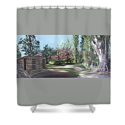 Josie's Cabin Shower Curtain