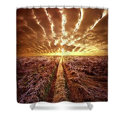 Shower Curtain featuring the photograph Just Over The Horizon by Phil Koch