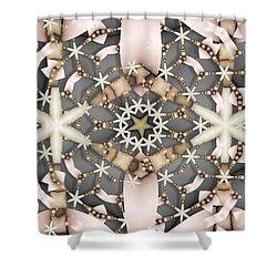 Shower Curtain featuring the digital art Kaleidoscope 97 by Ron Bissett