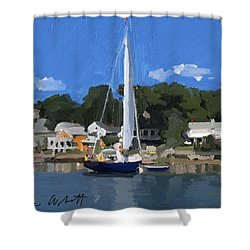Kanga In Lobster Cove Shower Curtain