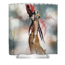 Katana  Shower Curtain