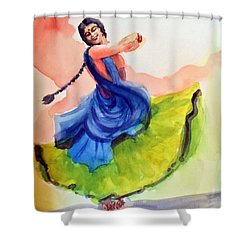Kathak Dancer Shower Curtain