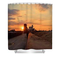 Katy Texas Sunset Shower Curtain