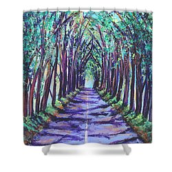 Kauai Tree Tunnel Shower Curtain by Marionette Taboniar
