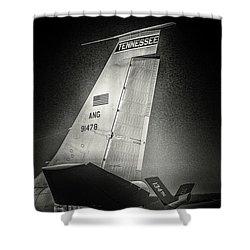 Kc_135 In Flight Refueling Tanker Shower Curtain