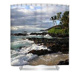 Ke Lei Mai La O Paako Oneloa Puu Olai Makena Maui Hawaii Shower Curtain by Sharon Mau