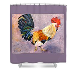 Key West Chicken Shower Curtain