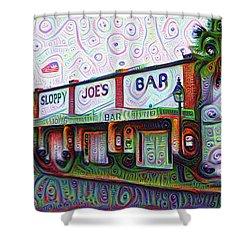 Key West Florida Sloppy Joes Bar Shower Curtain by Bill Cannon