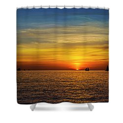 Key West Sunset Shower Curtain by Scott Meyer