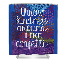Shower Curtain featuring the painting Kindness by Carla Bank