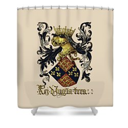 King Of England Coat Of Arms - Livro Do Armeiro-mor Shower Curtain