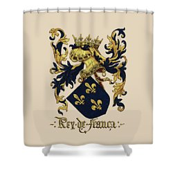King Of France Coat Of Arms - Livro Do Armeiro-mor  Shower Curtain