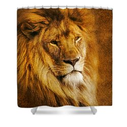 Shower Curtain featuring the digital art King Of The Beasts by Ian Mitchell