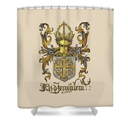 Kingdom Of Jerusalem Coat Of Arms - Livro Do Armeiro-mor Shower Curtain